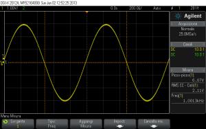 Fig. 4.1 - Segnale sinusoidale a 1 kHz, dopo il ripristino.