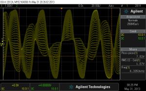 Fig. 1-2. Segnale sinusoidale a 20 kHz. Modifica Non Oversampling.